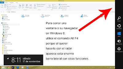 Como cerrar ventanas o el navegador en Windows 8 sin perder la cabeza