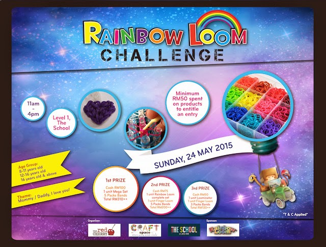 The School, Jaya One Kicks Off Rainbow Loom Challenge