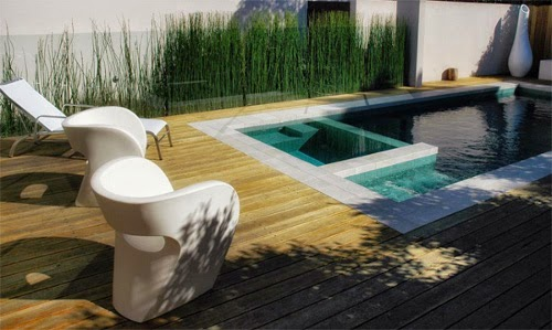 cozy compact modern pool design