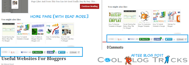 ShareThis Widget After And Before Blog Post