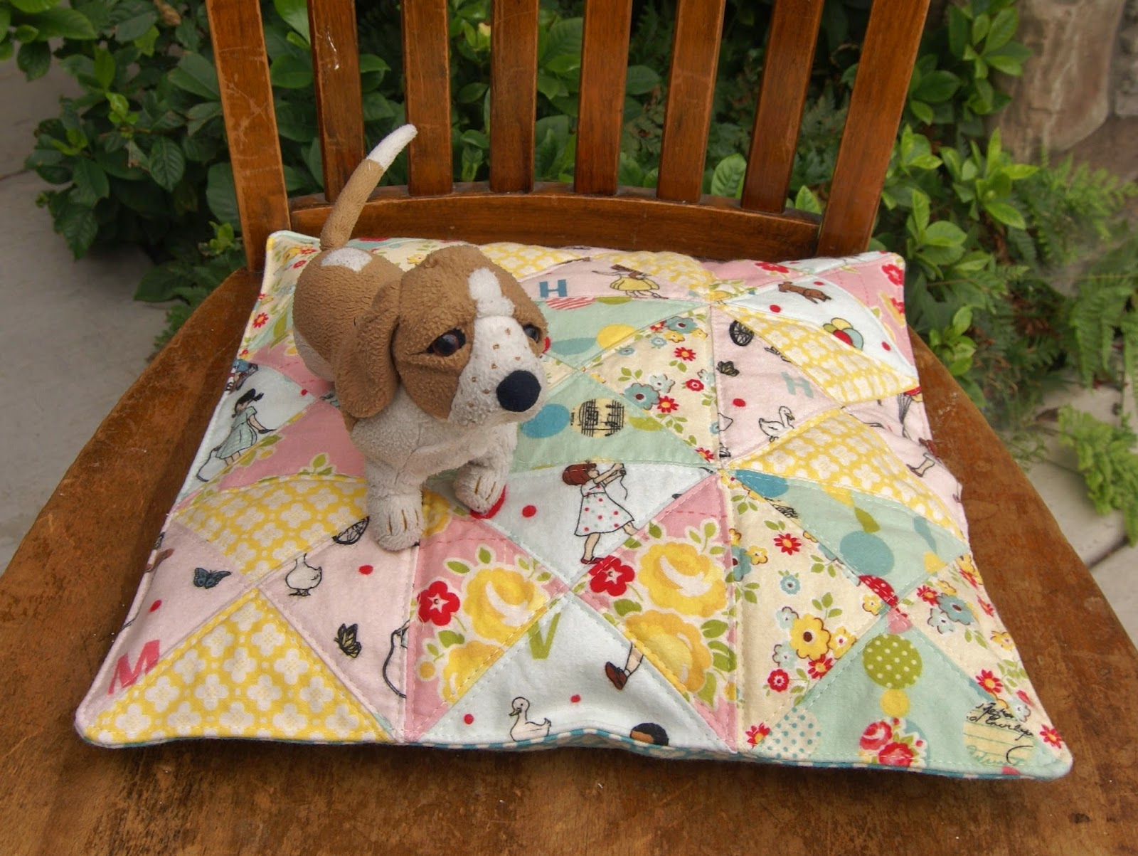 Riley Blake Designs Sidewalks Flannel Seat Cushion by Fabric Mutt