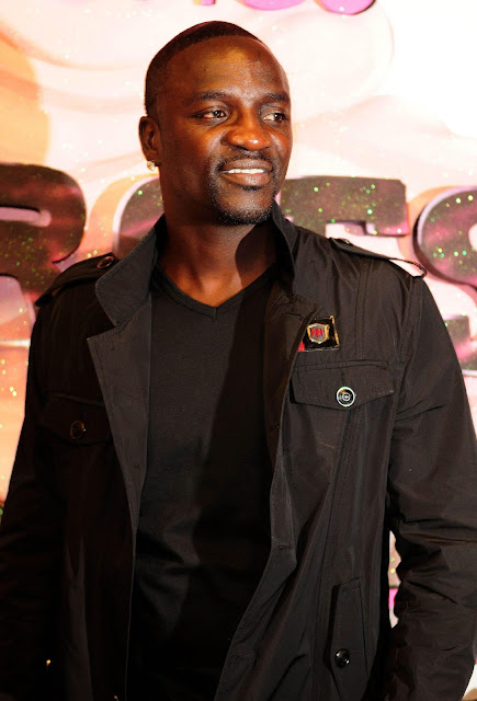 Pop Singer Akon With Black Dress