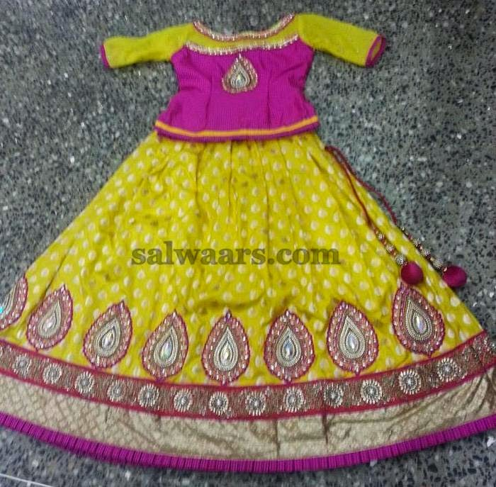 Yellow Benaras Skirt