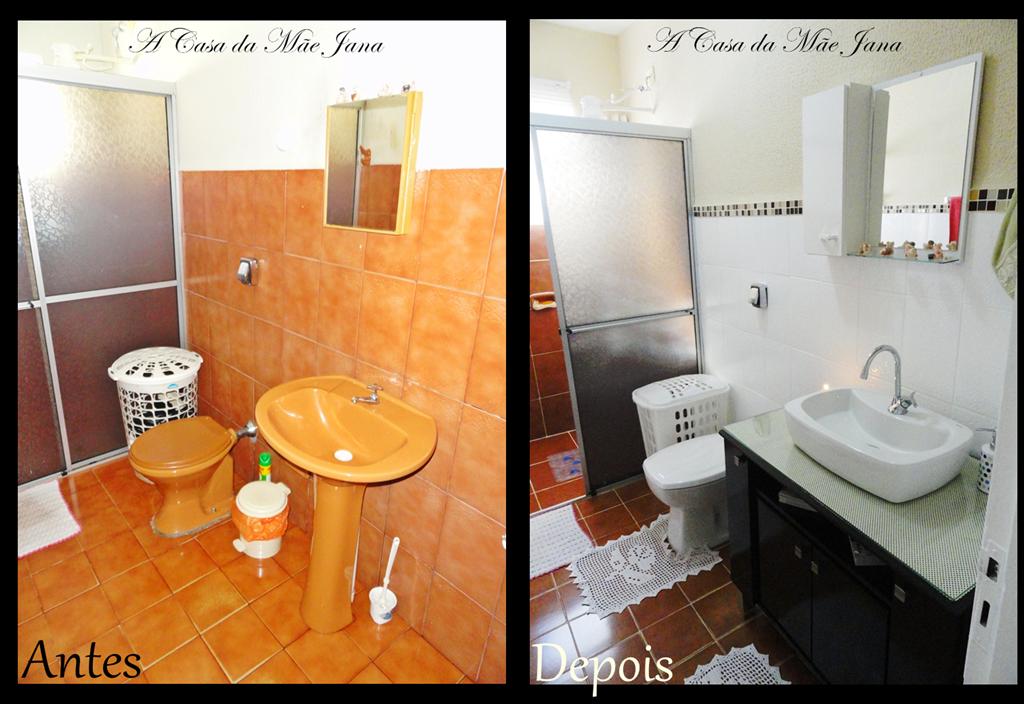 A Casa da Mãe Jana Reformando o banheiro -> Pintar Pia De Banheiro
