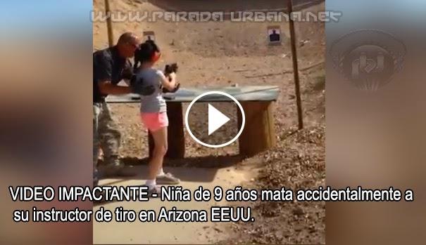 VIDEO IMPACTANTE - Una niña de 9 años mata accidentalmente a su instructor de tiro en Arizona