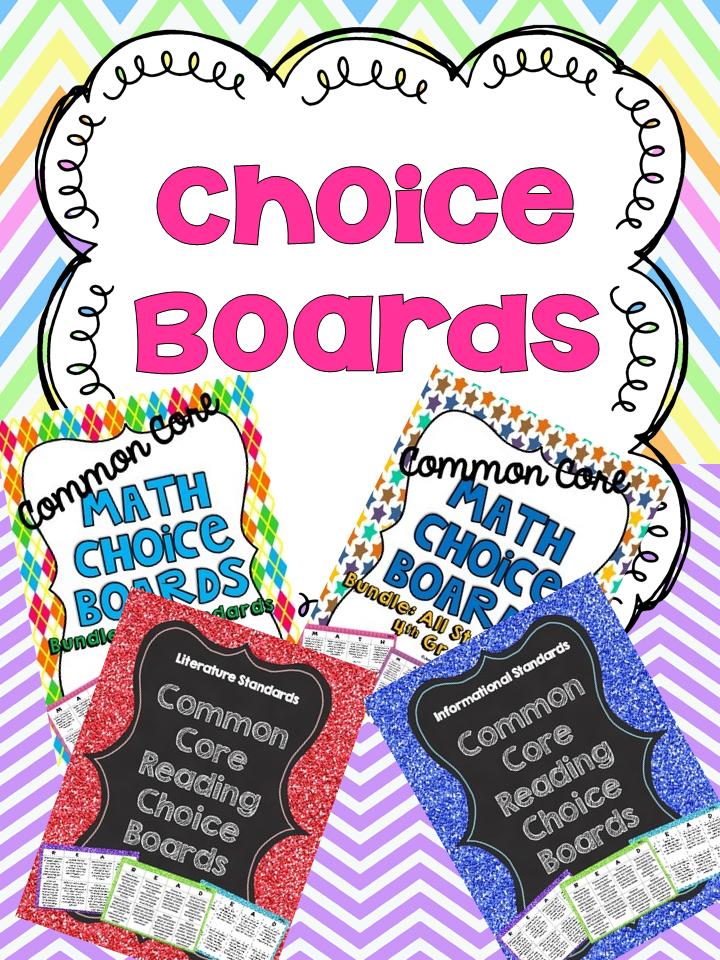 http://www.teacherspayteachers.com/Store/Jennifer-Findley/Search:choice%20boards
