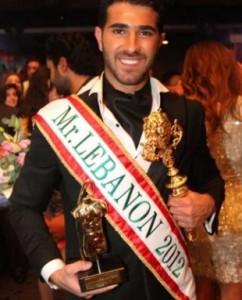 Mister Lebanon 2012 winner Rodolphe Abi Nader