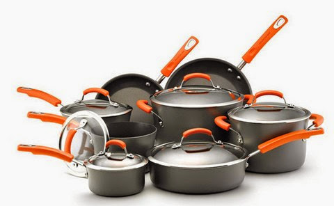 Rachael Ray Hard Anodized II Nonstick Dishwasher Safe 14-Piece Cookware Set