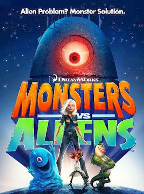 Poster Of Monsters vs Aliens 2009 In Hindi Bluray 720P Free Download
