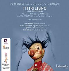Presentación de 'Titirilibro', de Ignacio Sanz y Nuevo Mester de Juglaría, en el palacio Quintanar