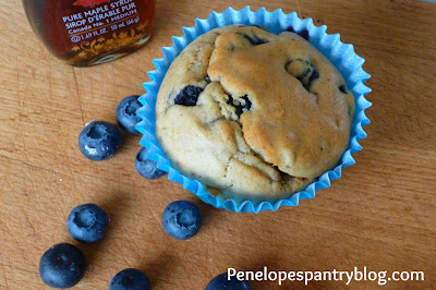 Penelope's Pantry: Blueberry muffins, dairy free, refined sugar free