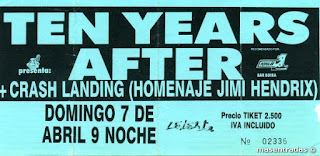 entrada de concierto de ten years after