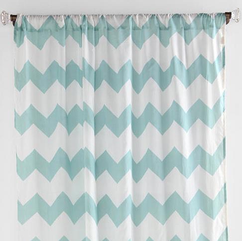 Curtains Ideas chevron curtains blue : Zig Zag Curtain   Everything Turquoise