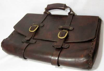 Gohic Leather Vintage Briefcase