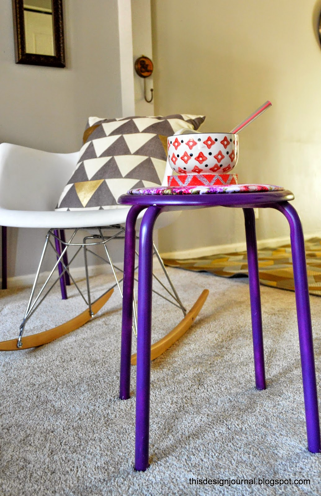 Small space solutions small stools that multi task this design journal - This small space design ...
