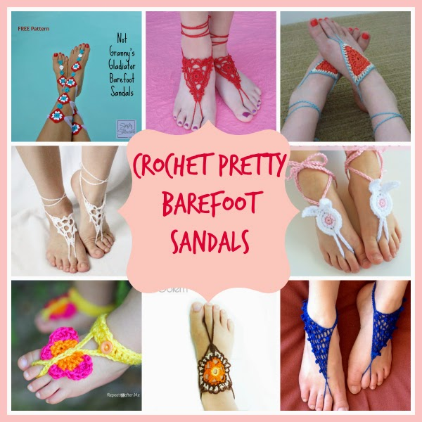 crochet barefoot sandals free patterns