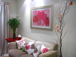 Almofada decorativa Feita com Estêncil