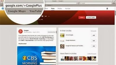 URL personnalisée Google+