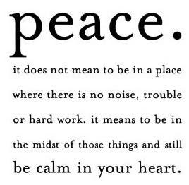 Algo de paz..