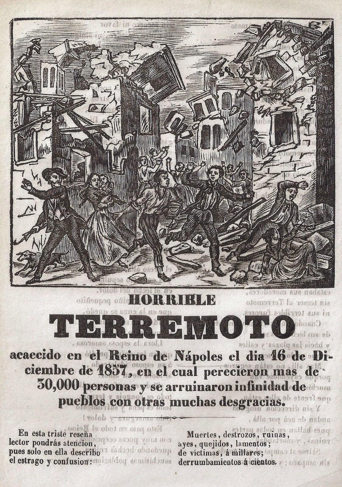 Horrible terremoto en Nápoles. Barcelona, Impr. José Tauló, 1858
