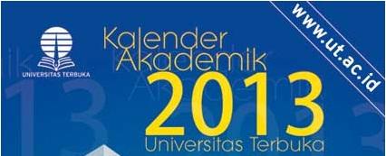 Kalender Akademik 2013 Universitas Terbuka