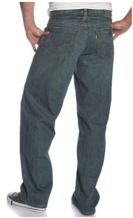 ◆ Silver Tab Jeans Baggy Levi's for Men Color Monte Carlo ...