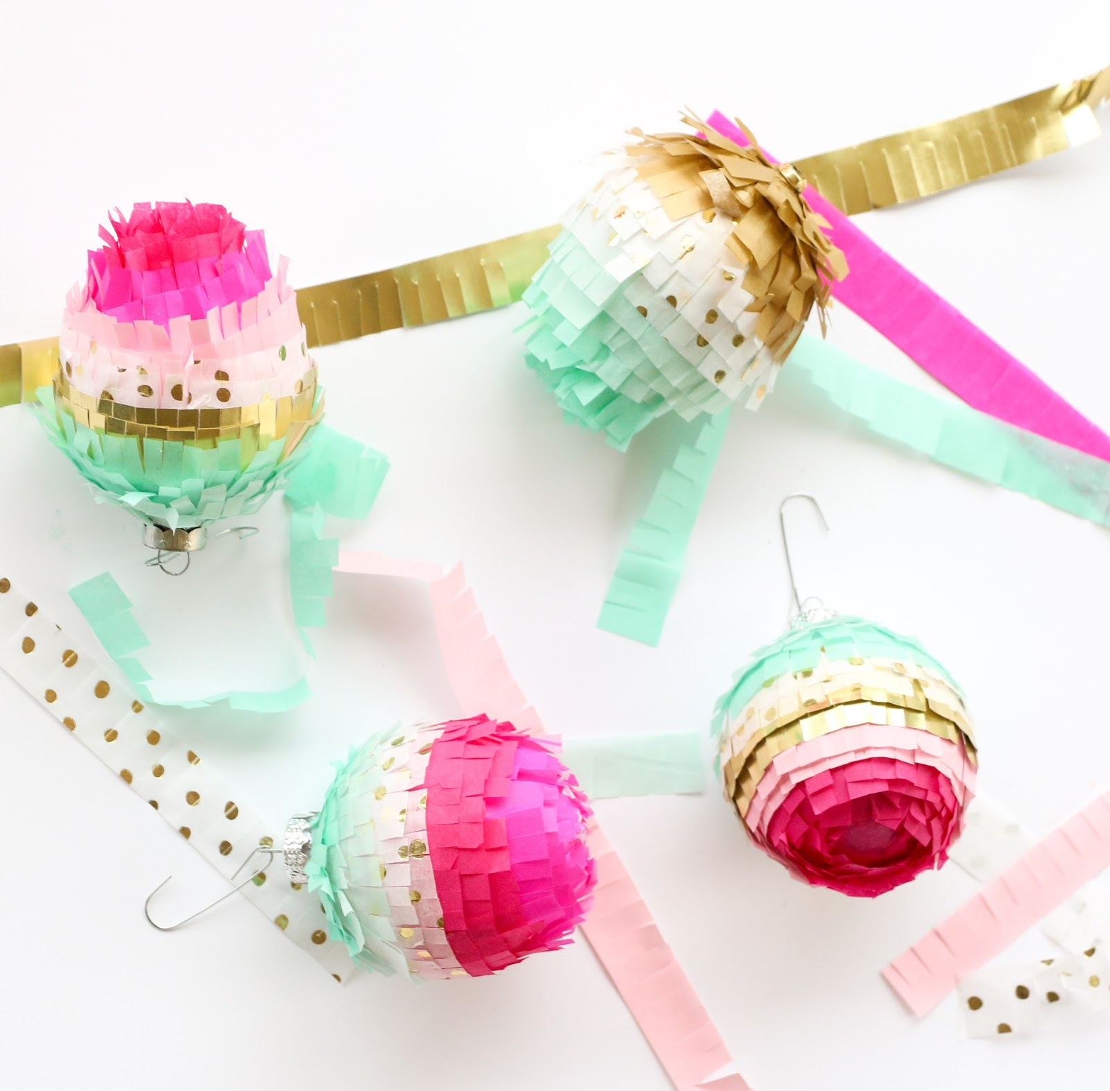 Ice cream ornaments - Stay Tuned All This Week For Several Of My Diy Ornament Ideas Today You Will Learn How To Make Your Own Colorful Fringe Ornaments