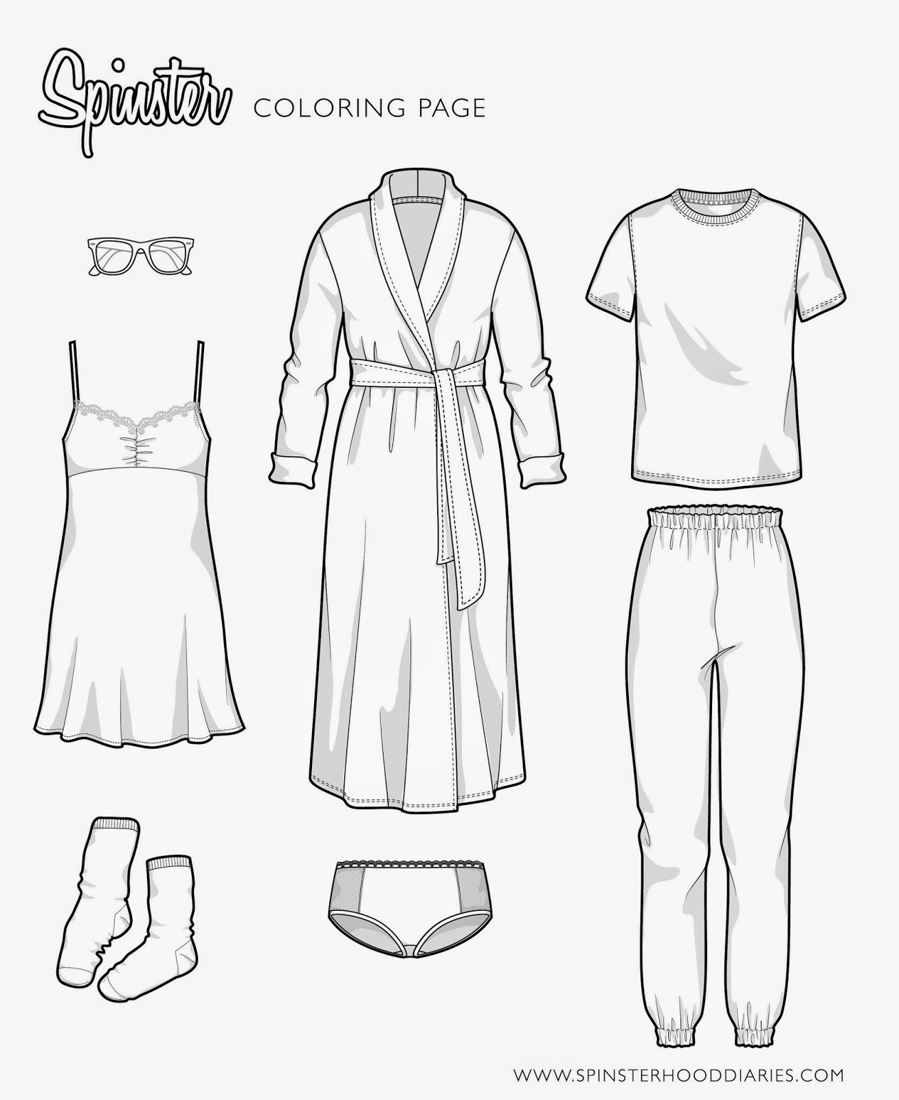 loungewear-flat-sketches, spinster-fashion, sweatpants-flat-sketch