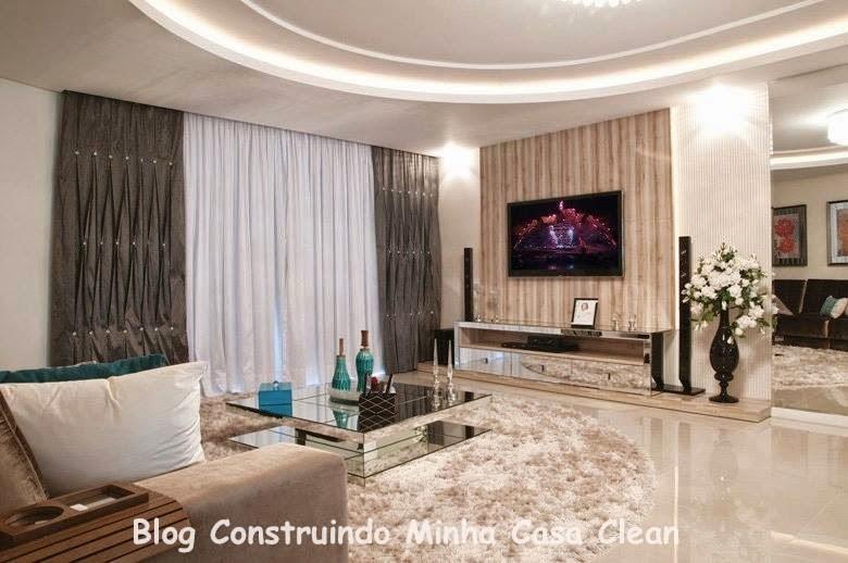 sala de TV e na sala de estar foi colocado um plafon grande de