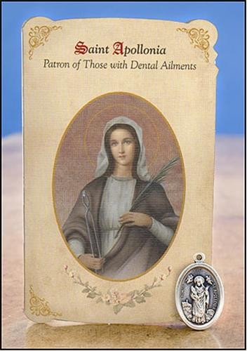 Αναμνηστική κάρτα και μετάλλιο της Αγίας Απολλωνίας