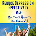 22 Actions To Reduce Depression Effectively - Free Kindle Non-Fiction