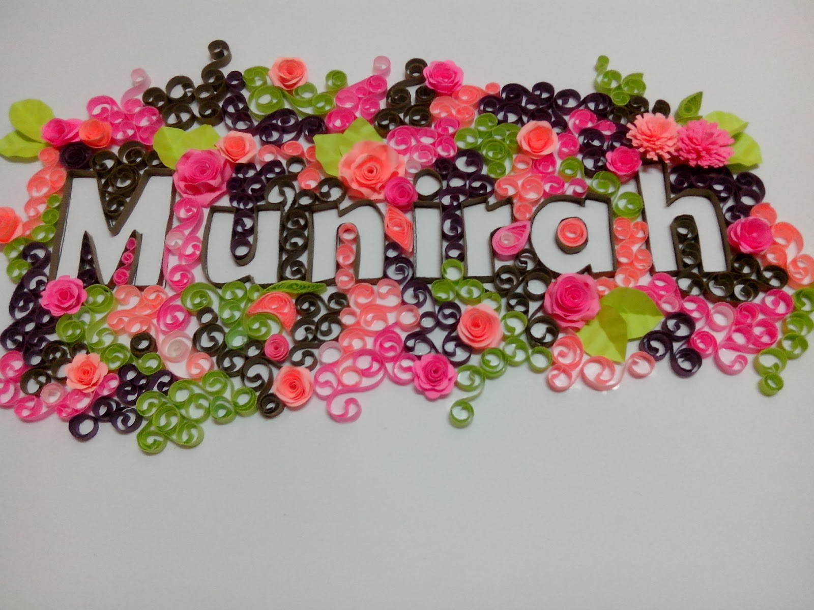 quilling typography