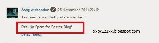 cara menghapus link pada komentar, mengganti link spam pada komentar dengan kalimat sendiri, blog