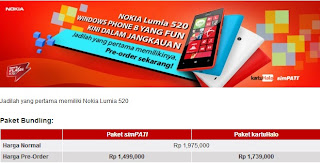 Harga Nokia Lumia 520 Windows Phone 8 Smartphone