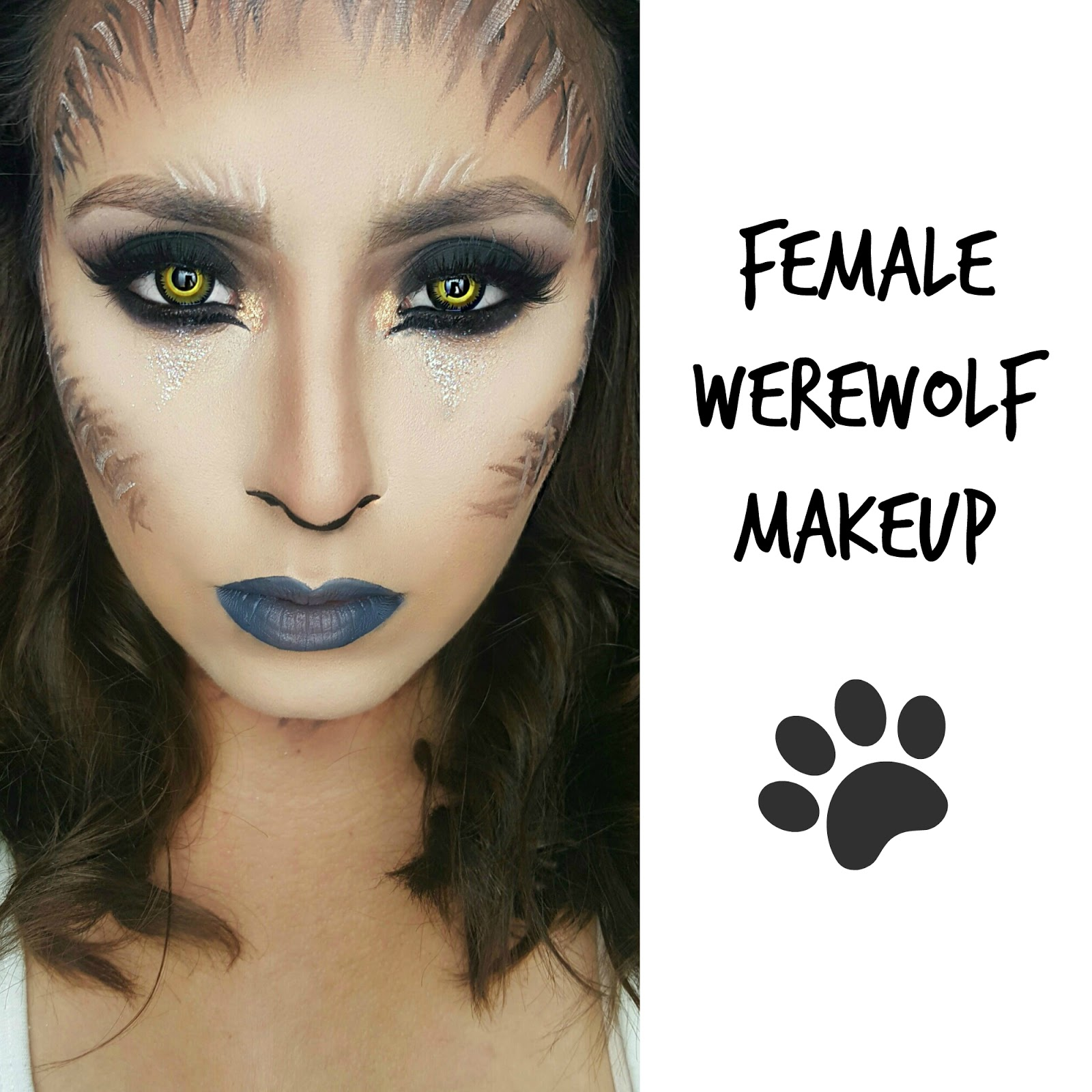 Beauty Addict On A Mission Sexy Female Werewolf Makeup Ft Spooky Eyes