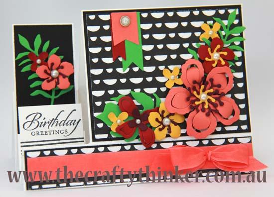 SU, The Crafty Thinker, Modern & bold hand made card,
