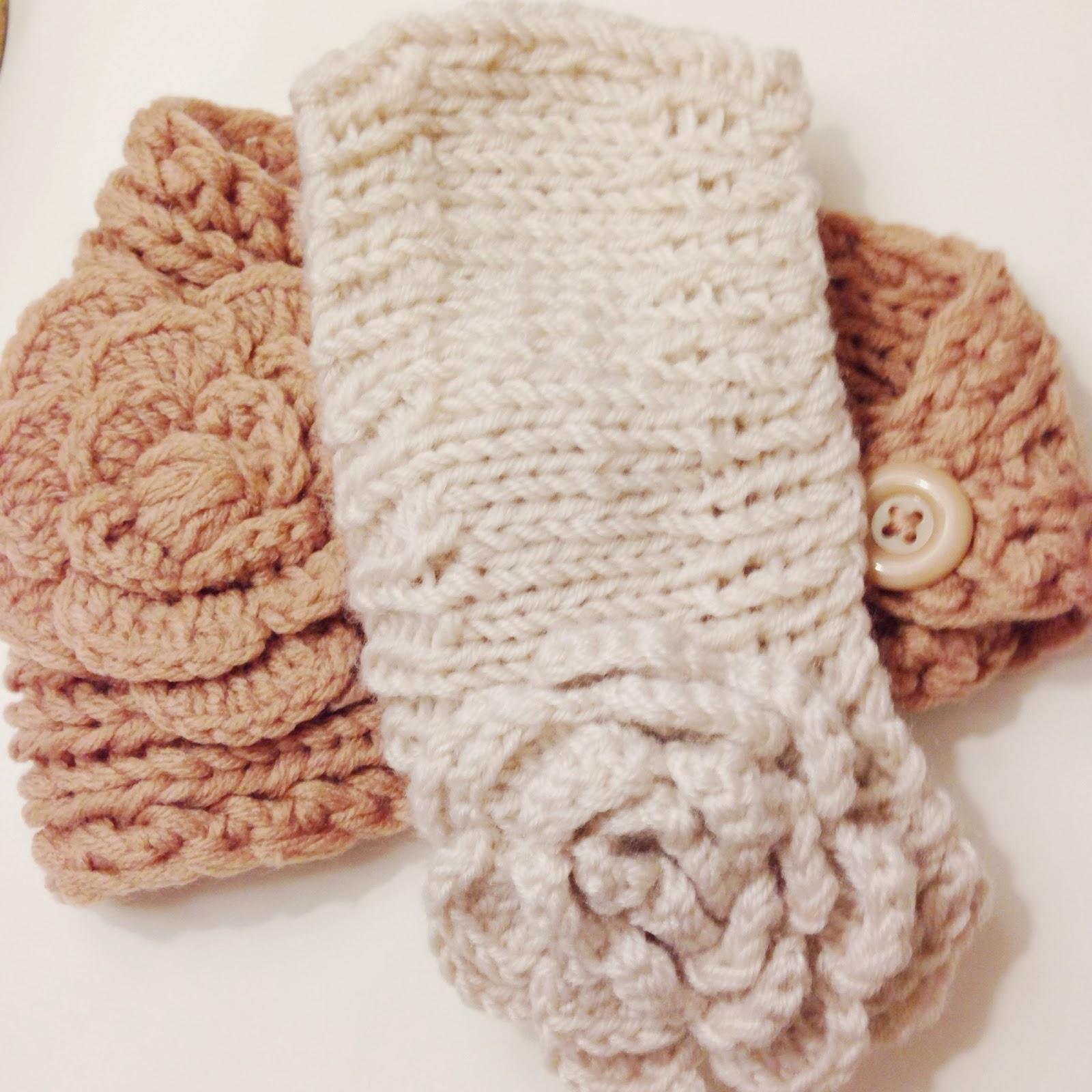 knitted headband ear warmers