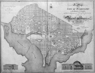 Vintage map of Washington D.C.