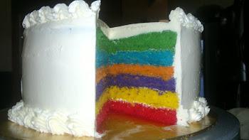 new cake!! Italian Rainbow Cake