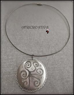 Collana argento con brillantini