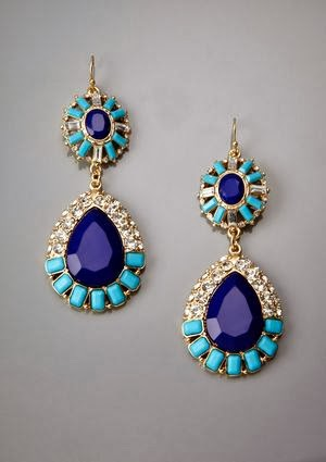 Multi-Gem Teardrop Earrings