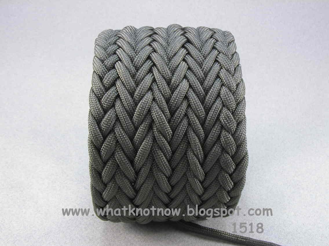 Knots And Fiber Bracelets Paracord Wide Hybrid Weave Cuff Bracelet 1518