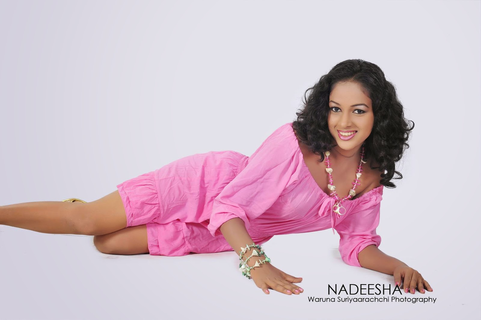 Nadeesha pink short dress