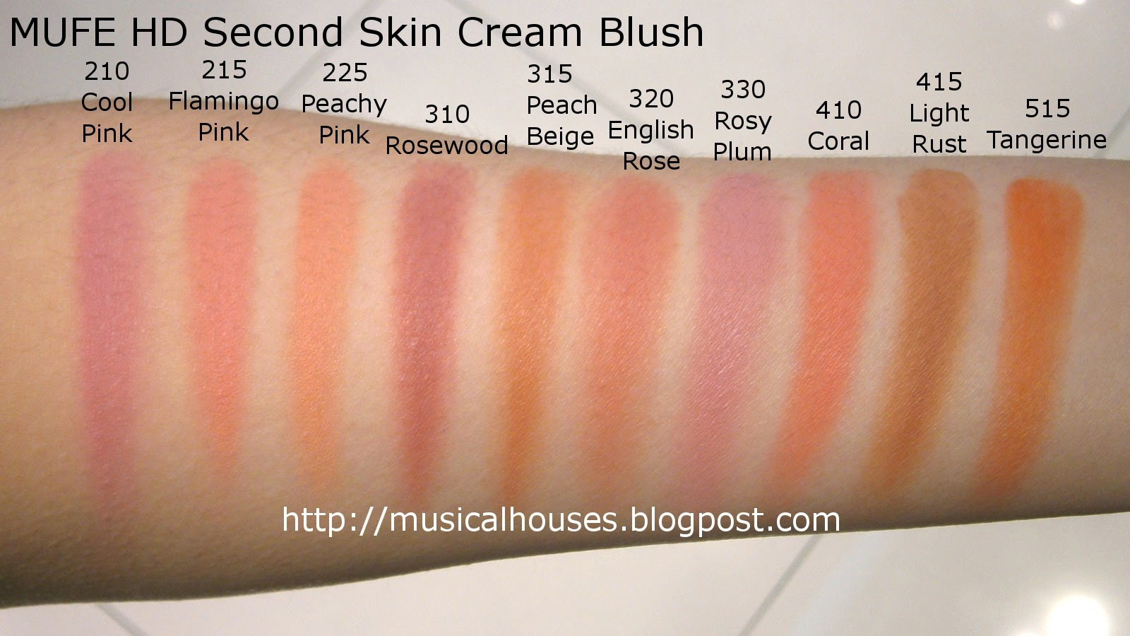 MUFE HD Blush Second Skin Cream Blush Swatches! - of Faces and Fingers