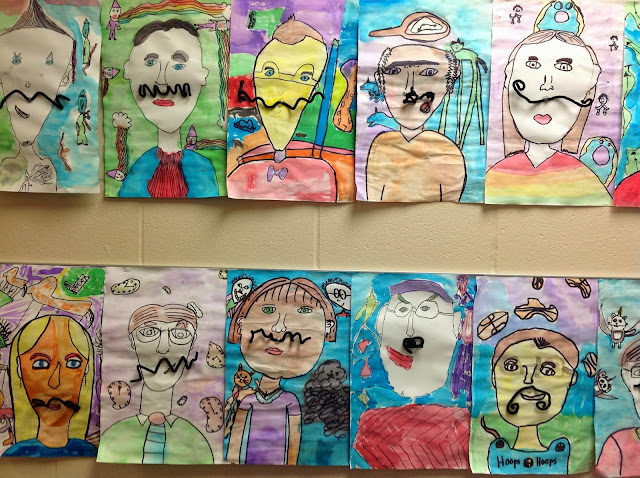 4th Grade Salvador Dali Mustache Portraits with Surrealism