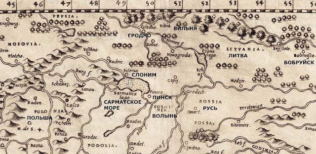 История исчезнувшего беларуского моря (сарматское море).