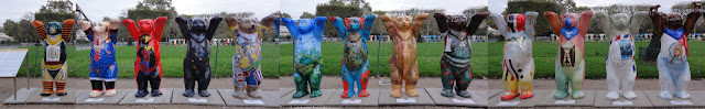 Buddy bears at the Champ de Mars Paris