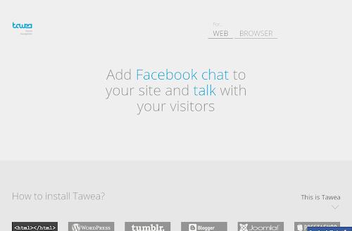 Conheça o Tawea Chat um chat integrado com o Facebook para Sites/Blogs e Navegadores