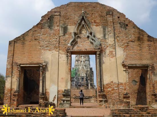 Ruins of Wat Ratchaburana in Ayutthaya Historical Park, Thailand