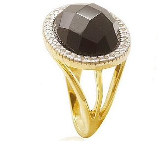 anel pedra preta